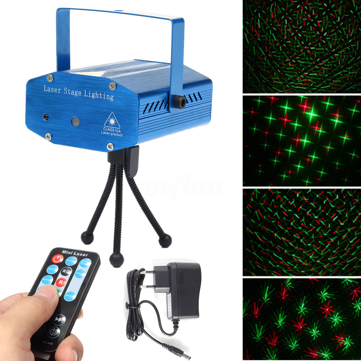 Mini LED Laser Projector Christmas Decorations Disco Light stage lighting effect Dj Voice-activated Xmas Party Club wedding