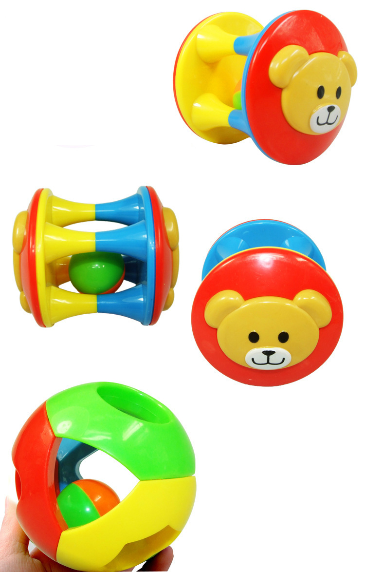 2pcs Baby Toy Fun Little Loud Jingle Ball,Ring jingle Develop Baby Intelligence,Training Grasping ability Toy For Baby 6M-1Year 5