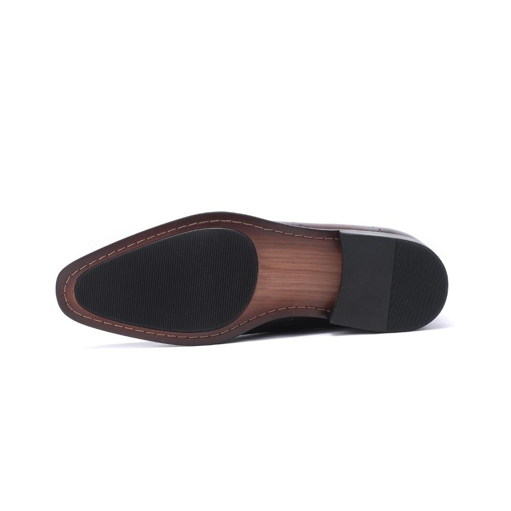 Homens Black Sapatos Novos Dos Esculpida Genuíno coffee Boi Vestido Derby Negócios Couro 19503 De Sapatas Oxford Preto Café Para RTnwwqX