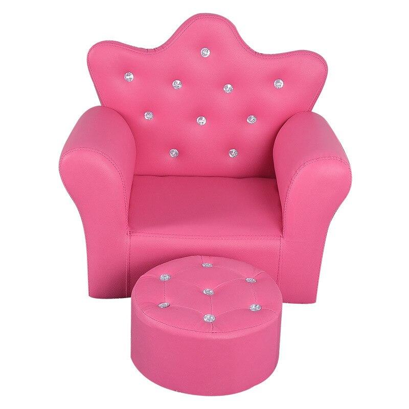 Children's Crown Sofa Lovely Cartoon Princess Kindergarten Mini Sofa Gift Toy Sofa Chair For Kids Sofa Baby Furniture