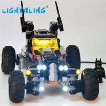 цена на Lightaling LED Light Kit for The Batmobile Compatible with Brand 70905 and 07045 Building Blocks Bricks Toys USB Charge