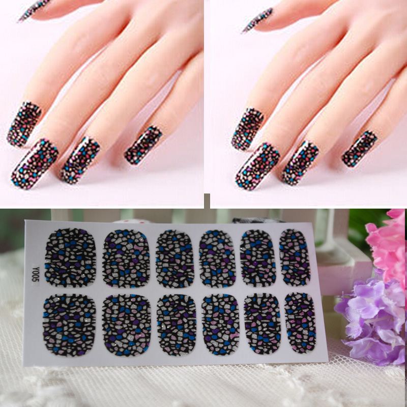 Full Nail WRAPS Art adhesive Sticker False Nails Foil decals ...