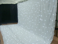 3*6M led star cloth wedding backdrop curtain with lights white starlit led star curtain drapery for stage decoration rod pocket