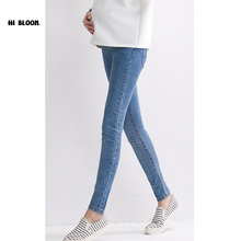 Elastic Waist Maternity Jeans Pant For Pregnancy Clothes For Pregnant Women Legging Autumn Winter Maternity Plus