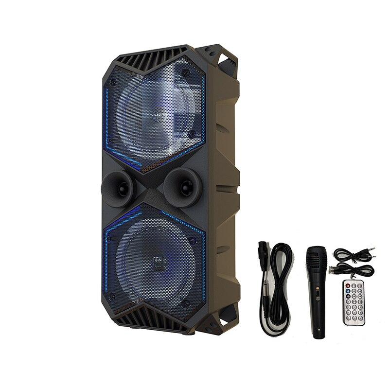 Grande puissance Bluetooth haut-parleur sans fil stéréo caisson de basse haut-parleurs graves lecteur de musique Support Microphone FM Radio TF FM Radio