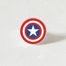 Hippie Style Superhero American Captain shield ring The Avengers Infinity War Fashion DIY for Women Men