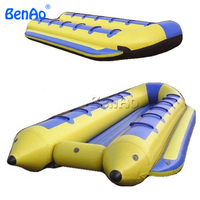 B007BENAO Free shipping Inflatable Water Toy Fly Fish Banana Boat/inflatable sea banana boat/PVC inflatable banana floating boat