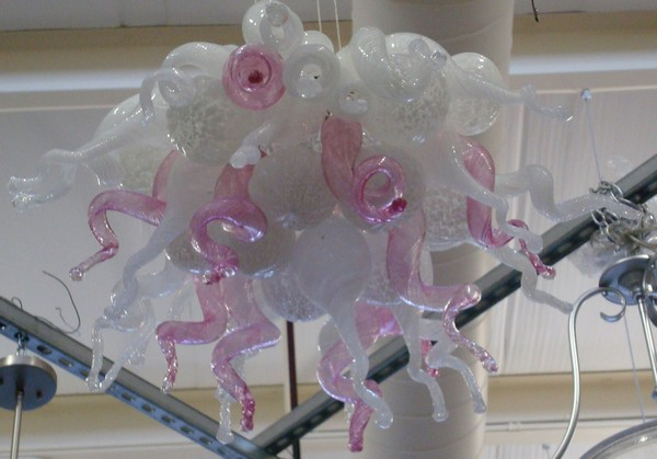 Elegant White and Pink Color Chihuly handmade Blown Glass Chandeliers Small led chandelier lighting dale chihuly murano glass handmade blown chandelier italy design hotel decor led chandeliers