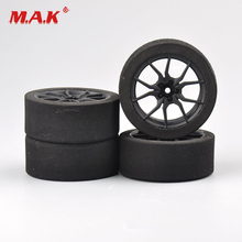 4Pcs/Set Foam Tire and Wheel Rims with 3mm Offset and 12mm Hex fit 1:10 Scale HSP HPI RC Rally Racing on Road Car Accessories 4pcs set racing foam tire wheel rims set for hsp hpi 1 10 on road rc car 12mm hex rc racing cars accessories