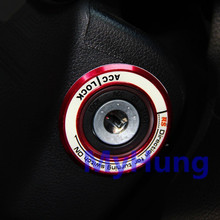 Luminous Ignition Key Ring Switch Cover Sticker For XV forester KIA RIO Solaris Sportage Soul Forte K3 K5 Sorento Ix35 Ix30
