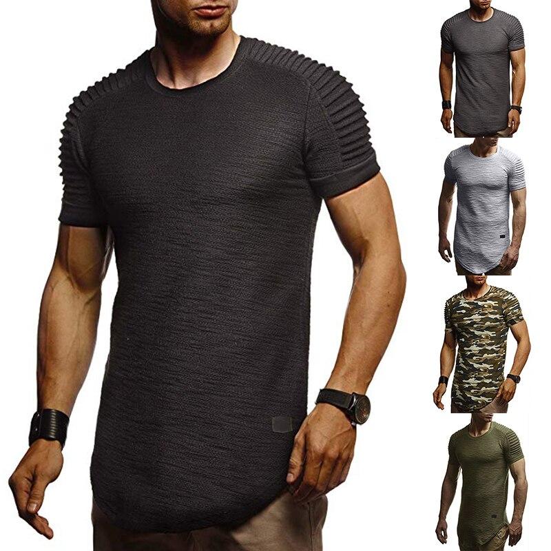 FFXZSJ New men's   T     shirt   summer sports running top   T     shirt   men's short sleeve casual O collar cotton fitness   T     shirt   sportswear
