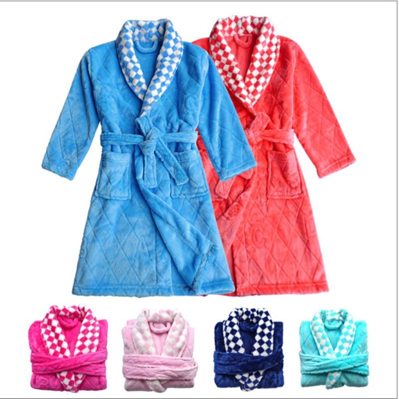 Hot sale Children's Bathrobes Autumn Winter Flannel ...
