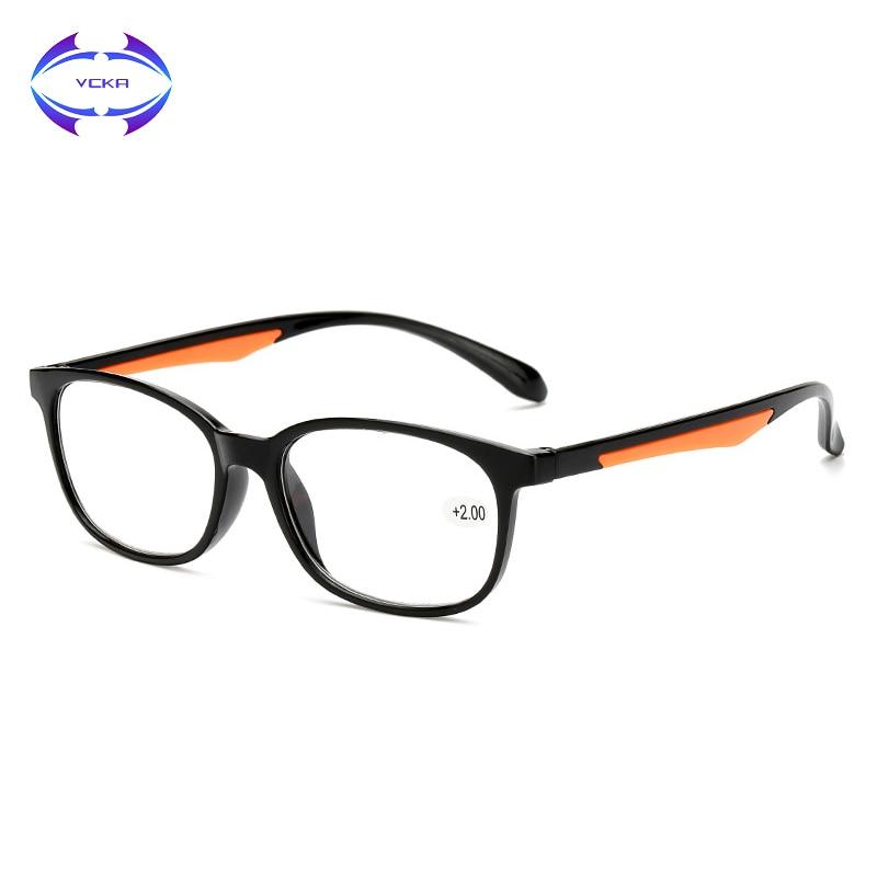 VCKA Brand Retro TR90 Reading Glasses Women Men Ultralight Presbyopia Eyeglasses Clear lens 1.00 +1.50 +2.00 +2.50 3.0 3.5 4.0