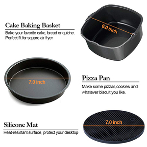 Image 2 - Square Air Fryer Accessories Fit for Philips, COSORI, NuWave Brio and other Square Air Fryers 12 Pcs Air Fryer Accessories