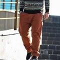 Весной и осенью мужчины плюс размер повседневные брюки большой размер ультра упругие коммерческих Большой 100% хлопок мужские тонкие длинные брюки большой