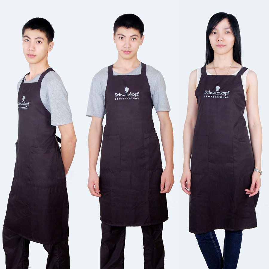 Black Color Hair Apron Universal For Men And Women, Hairdressing Apron SK-9 For Beauty Studio
