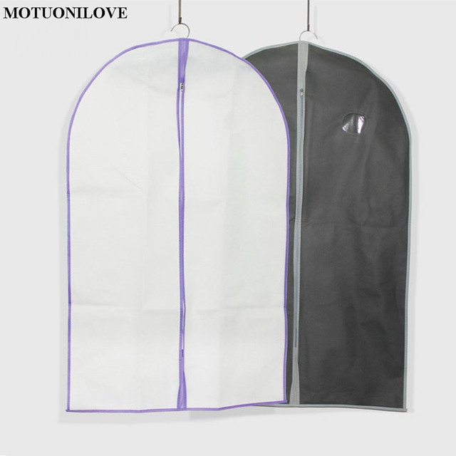 Two Colors Size 97cm 60cm Non Woven Fabric Suit Bags Clothes Cover Small Dust