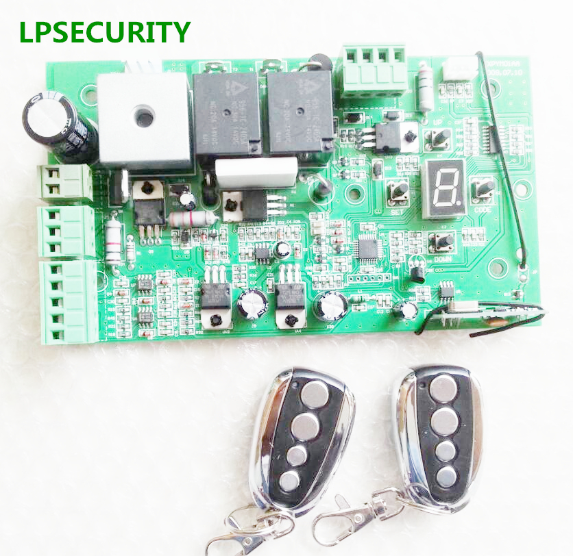 LPSECURITY 24VDC motherboard circuit board sliding DC motor controller 2 or 4 remote control as optional