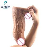 Big Thick Dildo Vibrator Vaginal Masturbation Anal Dildo Realistic Silicon Soft Butt Plug Vibrator Sex Toys For Adult Woman