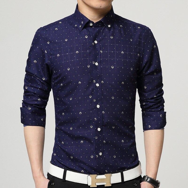 Summer Brand Camisa Social Masculina Shirt Men Camisas Masculino Tommis Man shirts Long Sleeve Slim Cotton Clothing New Arriving