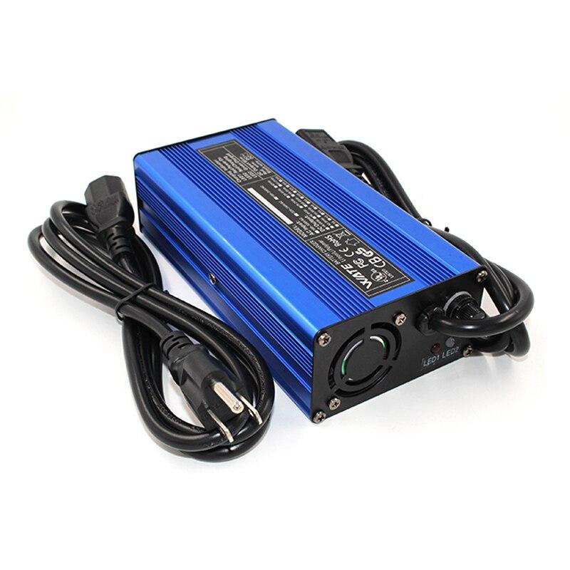 Tüketici Elektroniği'ten Şarj Cihazları'de 54.6 V 4A li ion pil Çıkış Şarj 48 V 4 Alithium şarj Için 13 S 48 V 10Ah 12Ah 15Ah 20Ah 30Ah Lipo/LiMn2O4/LiCoO2 pil title=