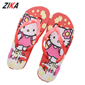 ZiKa 2017 Baby Girls Slippers Children EVA Cartoon Anti Skid Luck Cat Flip Flops Summer Shoes Toddler Kids Home Bathroom Sandal