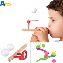 Hot Sale Ball Floating Game Blow Toy Outdoor Funny Sports Creative Pipe Balance Child Kids Gift Educational Toys Juggling Ball schylling blow toys hobbies outdoor fun sports toy ball foam floating ball game children wooden education kids baby gift