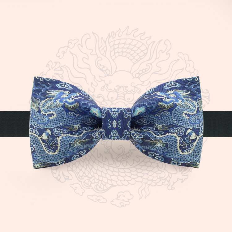 Free Shipping New Casual MEN'S Male Original Design Fashion Print Bow Tie Party Banquet Party Burn Dragon Totem