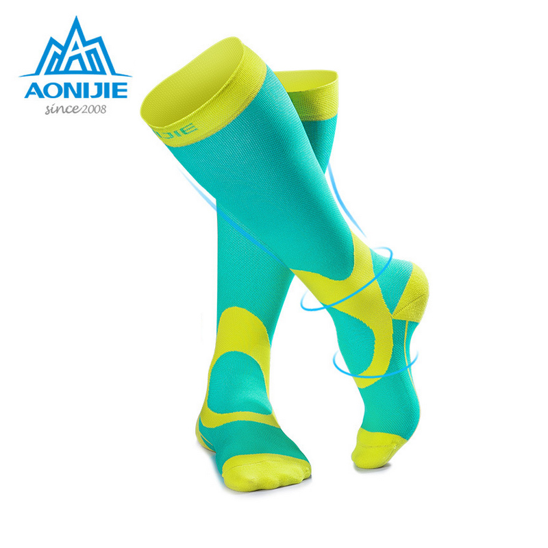 AONIJIE E4069 Men Women High Compression Socks Athletic Fit For Running Soccer Cycling Nurses Shin Splints Sports Oudtoor