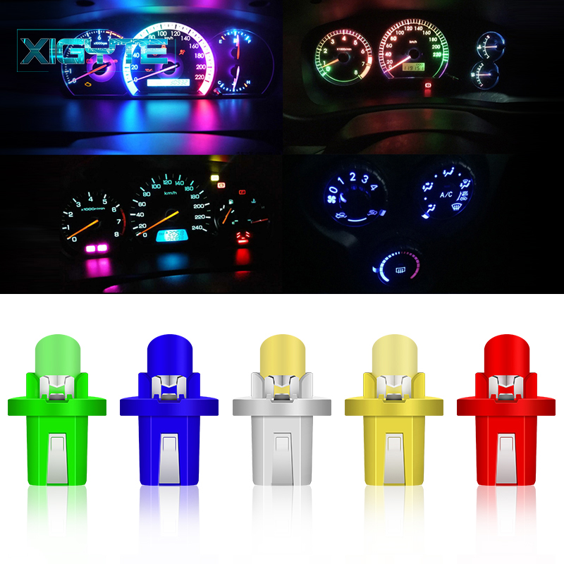 1 Piece T5 B8.5 B8.5D Car Auto LED Indiator Gauge Lights Interior Dashboard Dash Side Lamp DC12V Red White Blue Signal Bulb