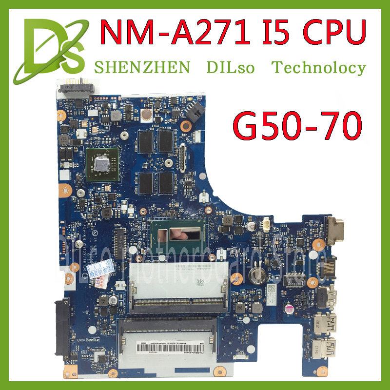 KEFU G50-70 Pour Lenovo G50-70 Z50-70 i5 carte mère ACLU1/ACLU2 NM-A271 Rev1.0 avec carte graphique 100% testé