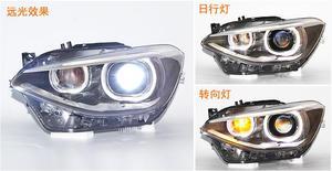Image 2 - Bumper headlamp for BMW F20 headlights 116i 118i 120i 135i 125i 2012~2015 front light F20 head lamp Bi Xenon Lens hi lo HID
