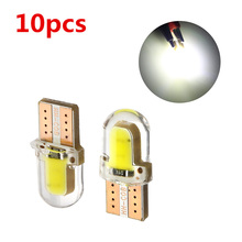 180LM 6500K Practical COB Lamps 10x T10 194 168 W5W COB 8 SMD LED CANBUS Silica Bright White License Light Bulb