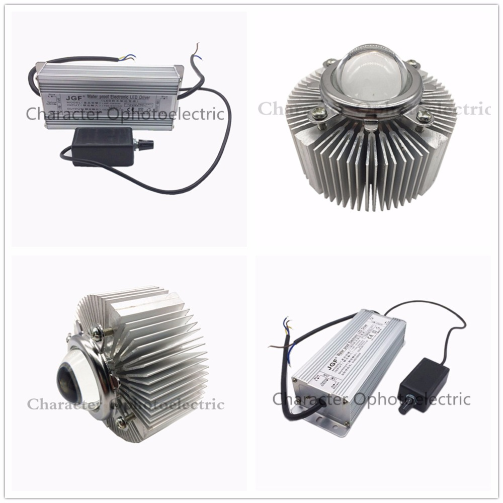 100W 100 <font><b>Watt</b></font> Dimmable Waterproof <font><b>LED</b></font> <font><b>Driver</b></font> + Lens Reflector + Heatsink Cooler image
