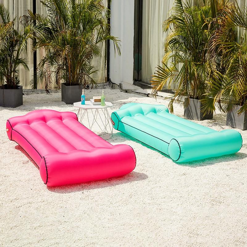 Sac de compréhension de hamac de sac de couchage gonflable en Nylon léger/simple d'entrée d'air/bouche pour le Camping