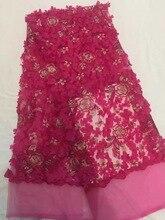 African nigerianische spitze stoff für party & hochzeitskleid Französisch tüll stoff mit perlen in rot HR40-71