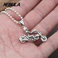 100% Real 925 Sterling Silver Vintage female Skeleton Motorcycle Pendant Necklace Jewelry For Men Or Wonmen Punk Thai Silver