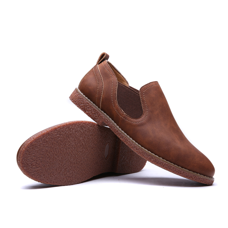 NEW Men Chelsea Boots Ankle Boots Fashion Split Leather Boots Mens Footwear Slip On Men shoes Free shipping in Chelsea Boots from Shoes