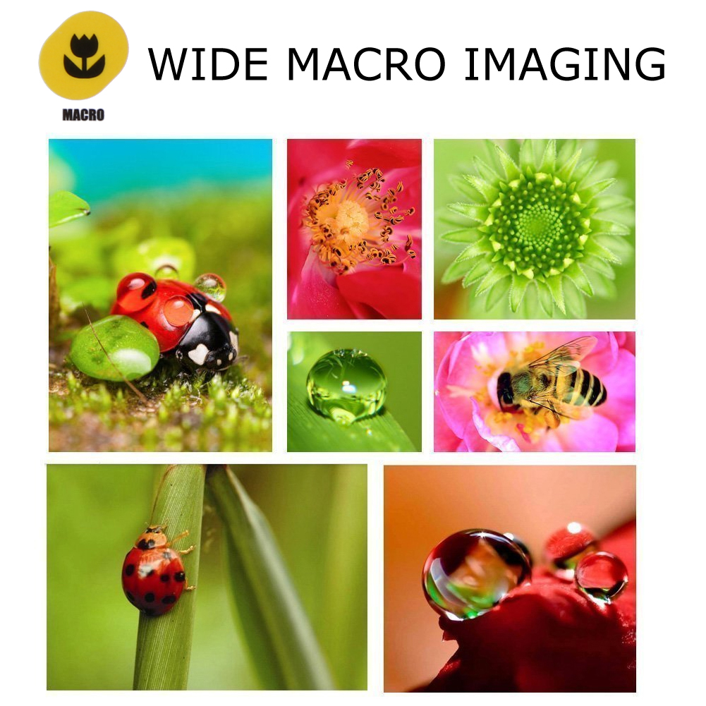 4 in 1 Cell Phone Clip-on Camera 198 Degree Fisheye Fish Eye Lens 0.63X Wide Angle 15X Macro Mobile Phone Lens Kit For iPhone 6