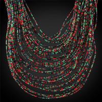 Collare ניגריה אפריקה שרשרת חרוזי אלמוגים צבע זהב אופנתי תכשיטי אופנה נשים שרשרות הצהרה רב שכבתית נשים N1731