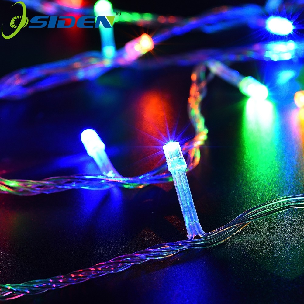 Christmas Light 220V/110V 50M 500LED Warm White Red Blue Green Purple Pink MultiColor String Lights For Christmas Party Wedding