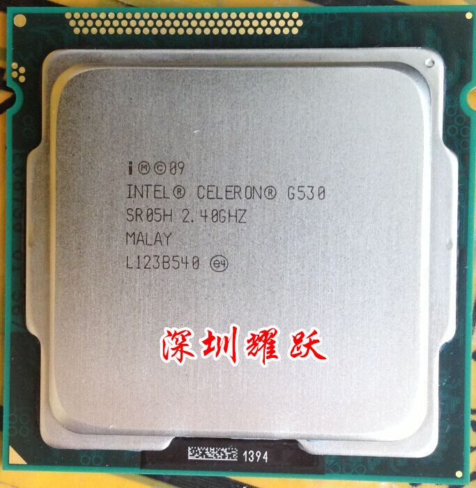ФОТО Dual- G530 pieces in assaying the fineness of the CPU 2.4 G LGA1155 new warranty for one year  Free shipping