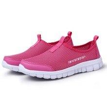 Women Casual Shoes 2017 New Arrival Women's Fashion Air Mesh Summer Shoes Female Slip-on Plus Size 34-41 Shoes MXR042