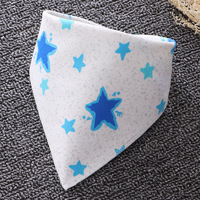 Soft and comfortable baby saliva towel cotton triangle towel newborn baby snap bib children bib pocket autumn and winter