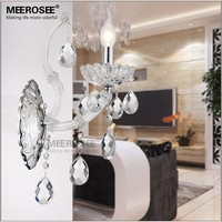 Modern 40W Clear Crystal Wall Sconces Wall Bracket Lights fixture wall Lamp for Bathroom, Bedroom Free Shipping MB8475