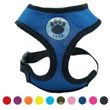 """LOVE"" breathable chihuahua harness"