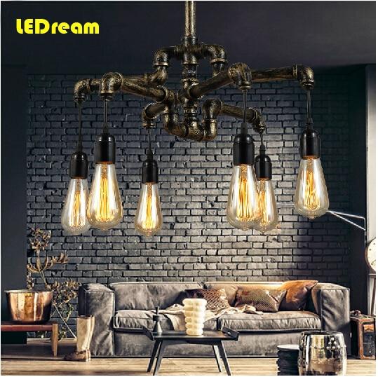 Droplight LOFT industrial design retro nostalgic restaurant bedroom bar Stage lighting lamps and lanterns conduit