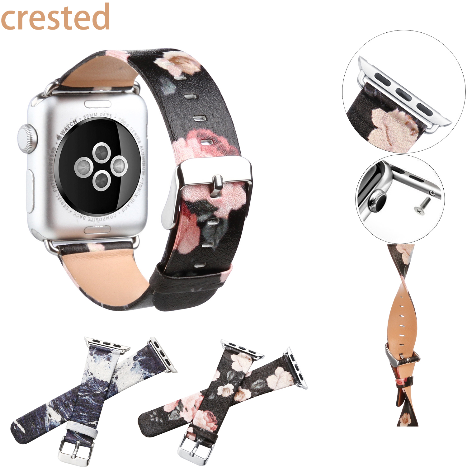 leather watch strap for apple watch band 42 mm/38 wristwatch male female replacement Bracelet watch band for iwatch 1/2 eache silicone watch band strap replacement watch band can fit for swatch 17mm 19mm men women