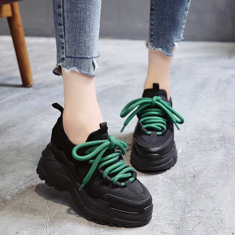 Achat Moxxy Noir Femmes Sneakers Femmes Papa Blanc Chaussures Femme Baskets  Plate Forme Dames Paniers Femme Zapatillas Mujer Casual Chaussures 2018 Pas  Cher ... e4c378e1774