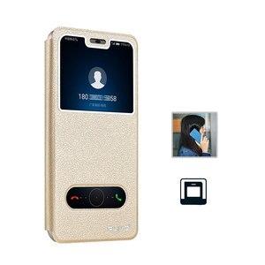 Image 2 - עבור Huawei Honor 8C מקרה יוקרה חלון ספר Stand Case Flip עבור Huawei Honor 8C BKK L21 כיסוי עור הכבוד 9X 8X טלפון מקרה 8 S